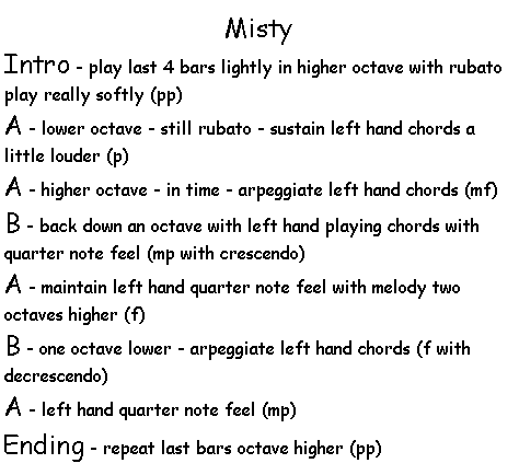 Misty Arrangement Outline