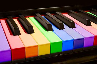 colorful piano chords